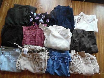 Lot 12 women's size 8 dress pants casual shorts capris cropped office work gray