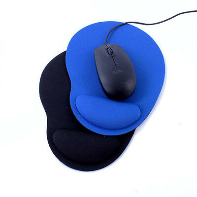 Blue Comfort Wrist Thin Rest Support Mat Mouse Mice Pad For Computer PC Laptop