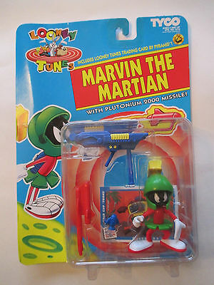 Moc 1993 Tyco Looney Tunes Marvin The Martian W/ Plutonium 2000 Missile Figure