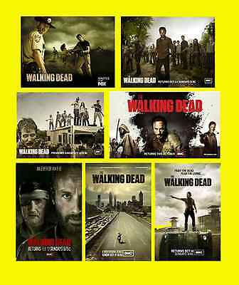 The Walking Dead Advertising Posters Zombie 7  Different Fridge Magnets Tv Gift