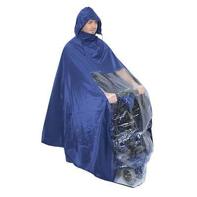 Aidapt Waterproof Light Weight Rain Coat Mobility Scooter Hooded Cape Mac Poncho