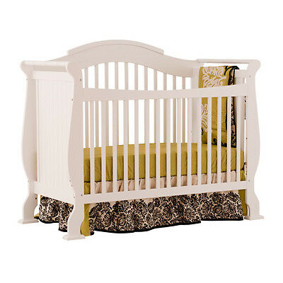 Storkcraft Valentia Fixed Side Convertible Crib, White - 04587-251