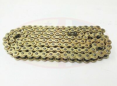 Heavy Duty Motorcycle Drive Chain 428H-118 Gold for Lexmoto ZSF 125