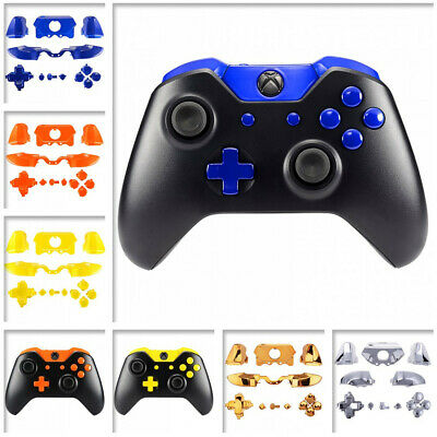 New Designed Solid Chrome Full Set Buttons Kits Replace for Xbox One Controller