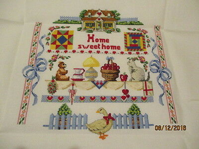 Broderie Point De Croix  Home sweet home...