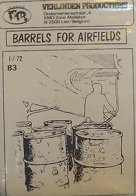 VERLINDEN PRODUCTIONS #0083 Barrels for Airfields (8 Stück) in 1:72