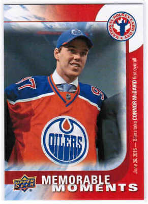 2016 Ud National Hockey Card Day Connor Mcdavid Can16 Memorable Moments Edmonton