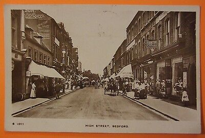 KINGSWAY RP Postcard POSTED 1915 HIGH STREET BEDFORD BEDFORDSHIRE