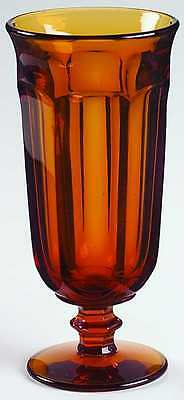 Imperial Glass Ohio OLD WILLIAMSBURG AMBER Iced Tea Glass 237456