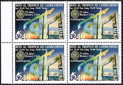 Chile 2001 Stamp # 2097 Mnh Block Of Four Rotary