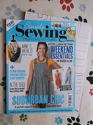 Simply Sewing Magazine~Issue 21 + Template Sheet