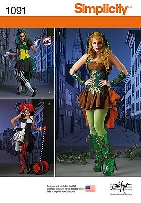 Simplicity SEWING PATTERN 1091 Misses Super Villain Costumes 6-14 Or 14-22