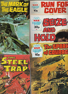 Bundle 5 War Picture Library Steel Trap Spark of Courage etc 1970s M