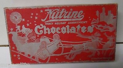 Very Old NUTRINE Candy Co Chicago - CHRISTMAS CHOCOLATE BOX