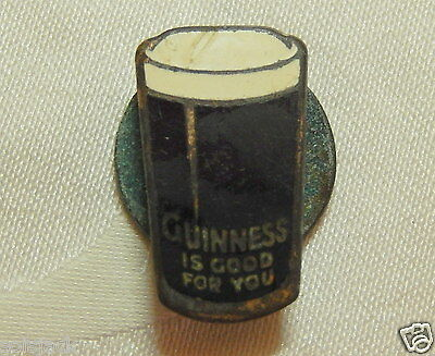 VINTAGE GUINNESS BEER ALE DRINKS ENAMEL PIN BADGE By HW MILLER