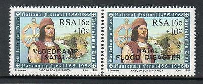 South Africa MNH  1988 Natal Flood Relief Fund