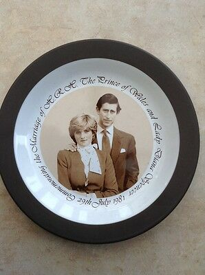 Hornsea Pottery Plate. Charles and Diana Wedding.