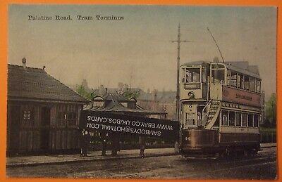 Postcard POSTED 1905 PALATINE ROAD TRAM TERMINUS WEST DIDSBURY MANCHESTER