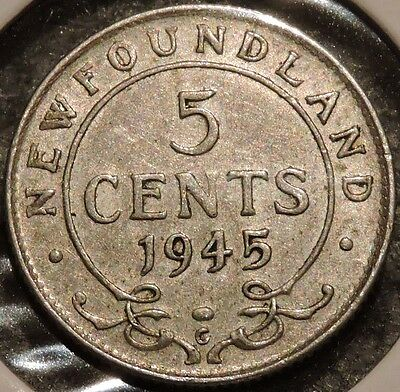 Newfoundland 5 Cents - 1945 - King George VI - $1 Unlimited Shipping