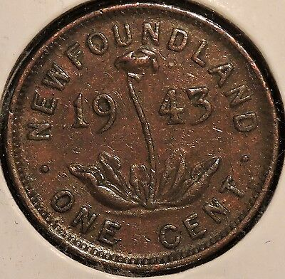 Newfoundland Small Cent - 1943 - King George VI - $1 Unlimited Shipping