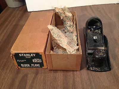Vintage Stanley 220 plane in box