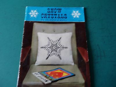 Snow Crystals in embroidery - vintage booklet with transfers