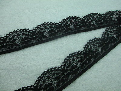 10 yards of high-quality black stretch lace ribbon free shipping