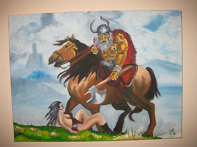 Original Oil Painting: PILLAGE (fourth of four)  12 x 16 in. unframed