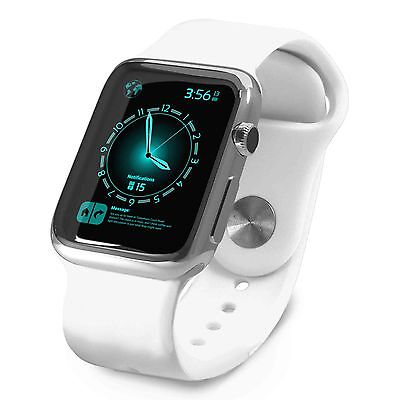 Tuff-Luv Silicone Wrist Watch Strap Band for Apple Watch 1 / 2 Sport -42mm-White