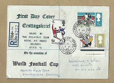 1966 Raf Bruggen World Football Cup  First Day Cover