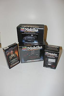 Nishika 35mm 3-D N8000 Camera/Case/Flash/VCR New