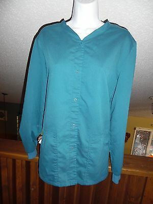 Grey's Anatomy Scrub Jacket/Lab Coat - Women's Size Large - Turquoise Green