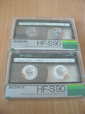 2 x 90 Minute Blank Audio Cassette Tapes - Sony - Both Used
