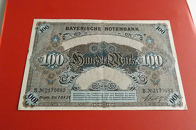 *Bayerische Notenbank 100 Mark 1900 *