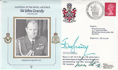 CDR16b Marshall of the RAF Sir J.Grandy Signed Himself Plus Patrick P C Barthrop