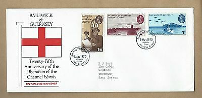 1970 25Th Anniversary Liberation Channel Isles First Day Cover