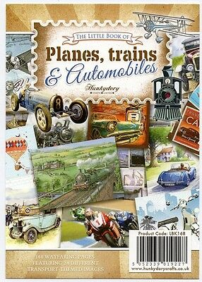 Hunkydory Little Book Planes,Trains & Automobiles,Cars Card Toppers x 24 Sheets