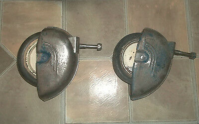 Pair Of Old Vintage Taylor Tot Stroller Wheel & Fender