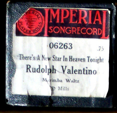 "IMPERIAL Songrecord ""RUDOLPH VALENTINO"" 06263 Hand Played Player Piano Roll"