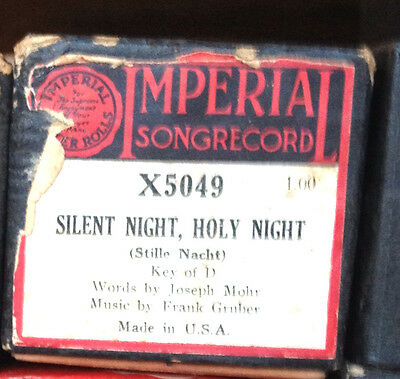 "IMPERIAL Songrecord ""SILENT NIGHT HOLY NIGHT"" X5049 Player Piano Roll"