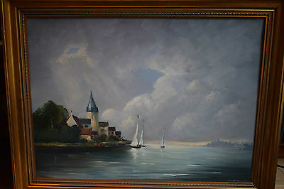 Hand Painted oil on canvas signed framed
