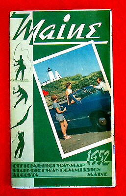 Maine Official Highway Map 1952 t4c