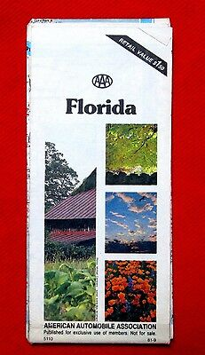 1982 AAA Map of Florida American Automobile Association Map meac10