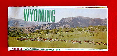 1964 Wyoming State Official Highway Map ms3c
