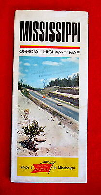 Mississippi Official Highway Map 1964 - 1968 t4c