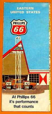 Eastern United States Phillips 66 Map 1971 c