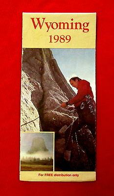 1989 Wyoming Official Highway Map rdbc