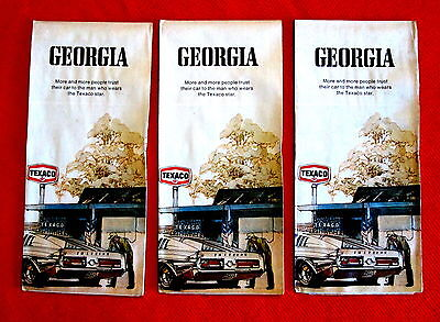 Georgia Shell Oil Highway Map  Lot of three 1972 1973 t4c