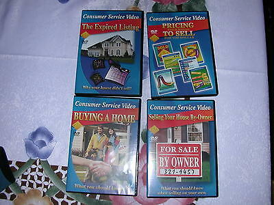 Consumer Service Video 4 DVD Real Estate Home Buying Selling Sell Roger Butcher