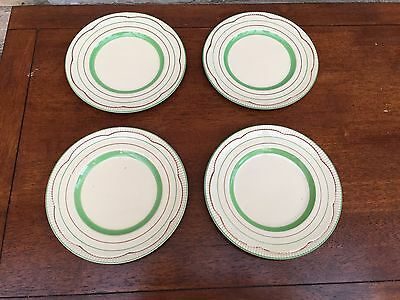 Clarice Cliff Green Band Small Side Plates 6.5""